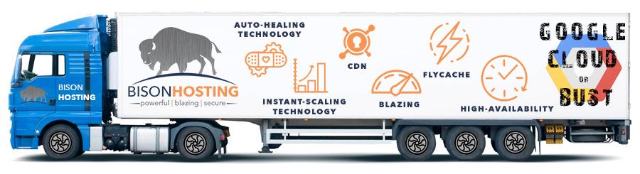 WordPress Hosting migration moving truck
