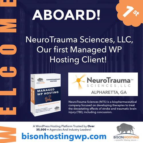 BisonHosting welcome aboard NeuroTrama Sciences, LLC